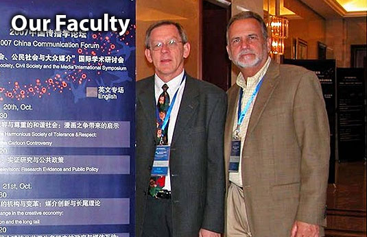 Professors Dale Kunkel and Ed Donnerstein deliver invited lectures on the mass media  at an international conference in Beijing China.