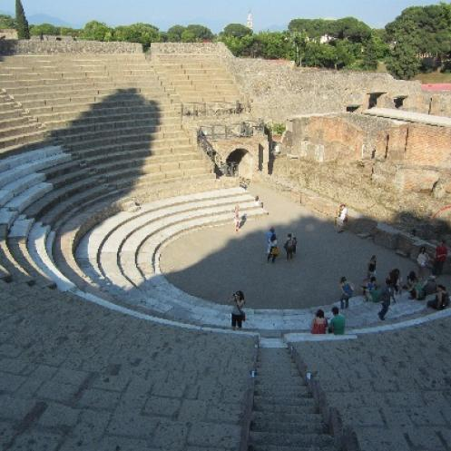 Theater in Pompeii (Communication Study Abroad Program in Orvieto, Italy)
